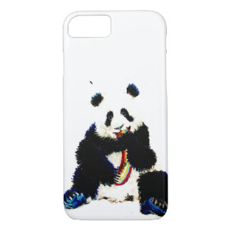 When a panda catches a rainbow... iPhone 7 case