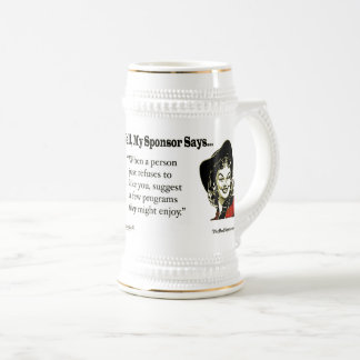 When a person just refuses to like you... beer stein