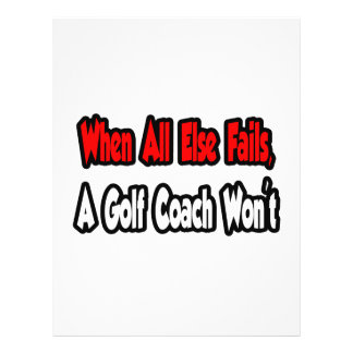 When All Else Fails, A Golf Coach Won't Flyers