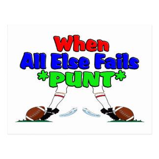 When All Else Fails *PUNT* Postcard