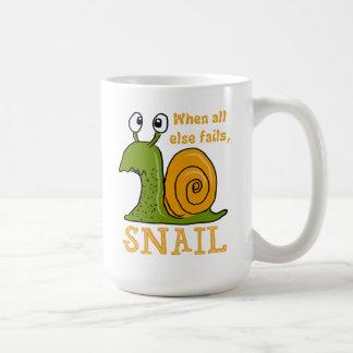 When all else fails, SNAIL Coffee Mug