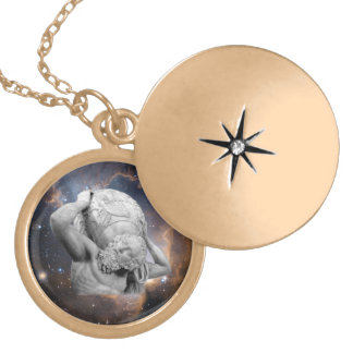 When Atlas Shirked Medallion Locket Necklace