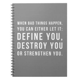When Bad Things Happen Quote Notebooks