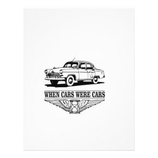 when cars were cars yeah customized letterhead