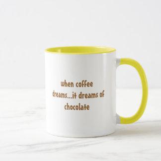 when coffee dreams...it dreams of chocolate mug