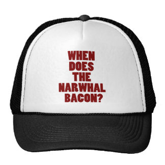 When Does the Narwhal Bacon Reddit Question Trucker Hat