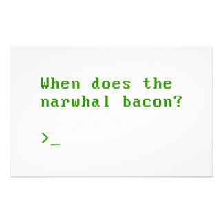 When Does the Narwhal Bacon VGA Reddit Question Stationery Design