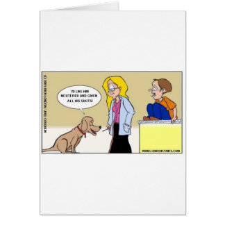 When Dogs R The Masters Funny Gifts & Tees Greeting Card