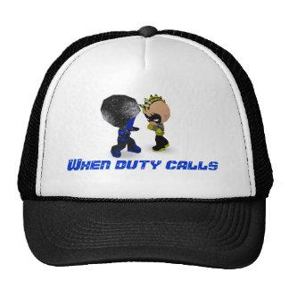 When duty calls mesh hats