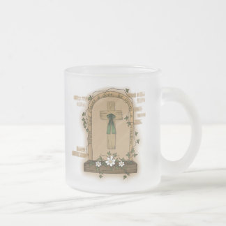 When God Closes a Door He Opens a Window 10 Oz Frosted Glass Coffee Mug