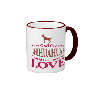 When God Created Chihuahuas Mugs