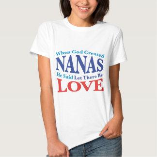 When God Created Nanas Tshirt