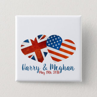 When Harry met Meghan 2 Inch Square Button