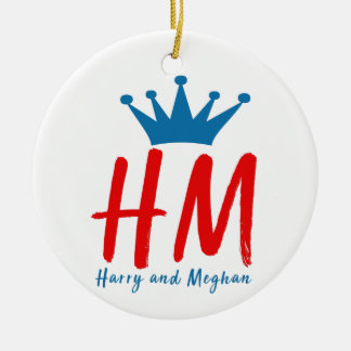 When Harry met Meghan Ceramic Ornament