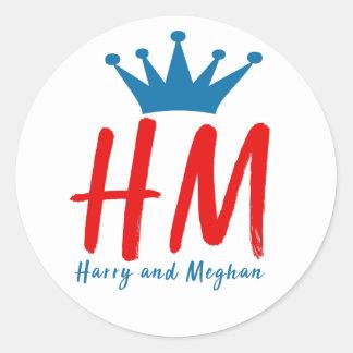 When Harry met Meghan Classic Round Sticker
