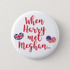 When Harry met Meghan | Fun Royal Wedding 2 Inch Round Button
