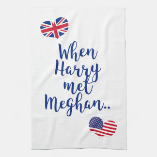 When Harry met Meghan | Fun Royal Wedding Kitchen Towel