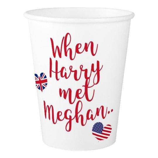 When Harry met Meghan | Fun Royal Wedding Paper Cup