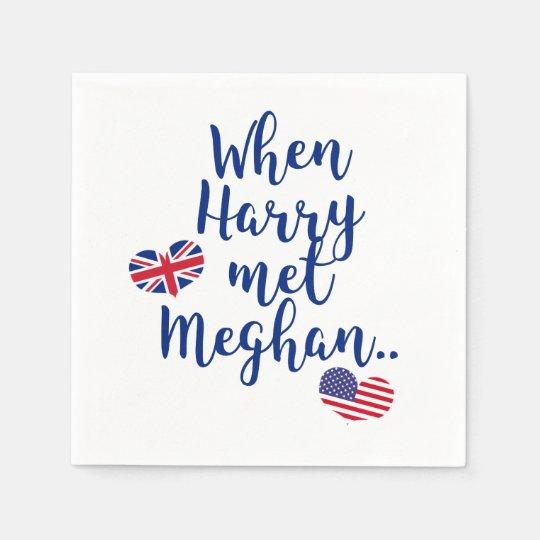 When Harry met Meghan | Fun Royal Wedding Paper Napkin