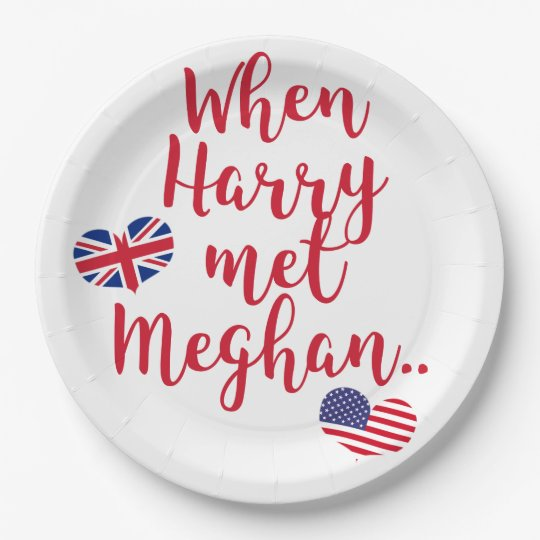 When Harry met Meghan | Fun Royal Wedding Paper Plate