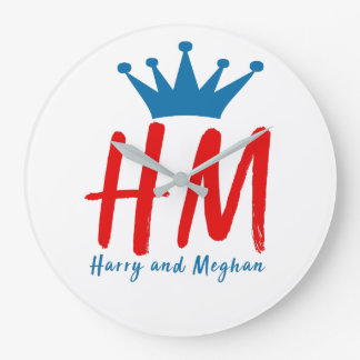 When Harry met Meghan Large Clock