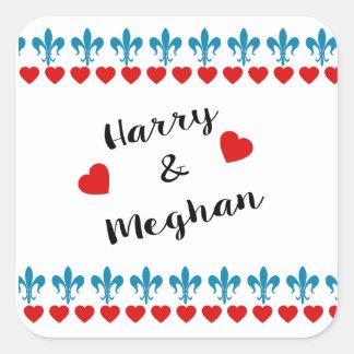 When Harry met Meghan Square Sticker