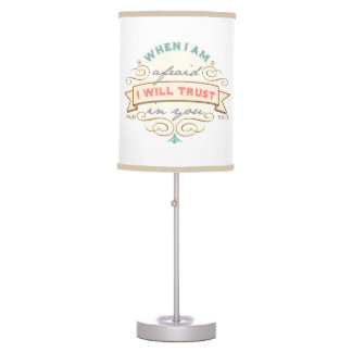 When I Am Afraid, Vintage Scripture Desk Lamp