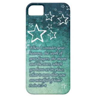 When I Consider the Stars Psalm 8:3-4 Bible Verse iPhone 5 Covers