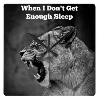 When I Don't Get Enough Sleep Wall Clock