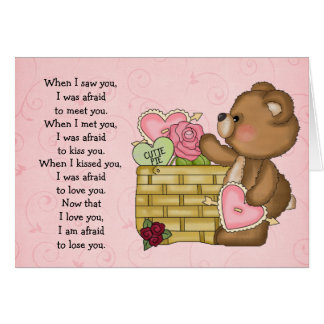 When I..... Greeting Card