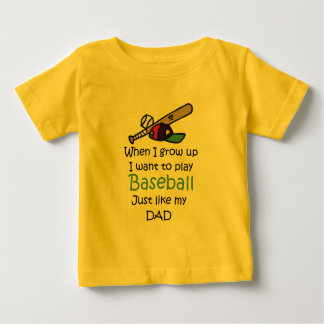 When I grow up Baseball with graphic Baby T-Shirt