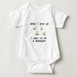 When I grow up I want to be a beekeeper Baby Bodysuit