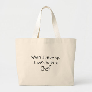 When I grow up I want to be a Chef Large Tote Bag