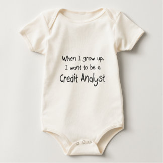 When I grow up I want to be a Credit Analyst Baby Bodysuit