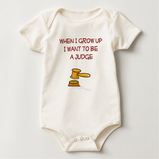 When I Grow Up i want to be a Judge Infant Baby Bodysuit