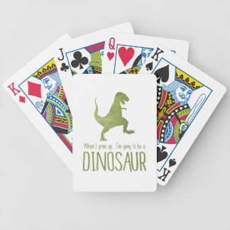 When I Grow Up, I'm Going to be a Dinosaur Bicycle Playing Cards