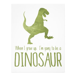 When I Grow Up, I'm Going to be a Dinosaur Letterhead Template