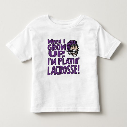 When I Grow Up I'm Playing Lacrosse Purple Toddler T-shirt