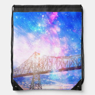 When I Look to the Sky Drawstring Bag