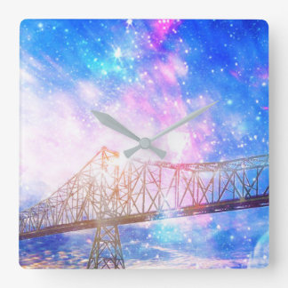 When I Look to the Sky Square Wall Clock