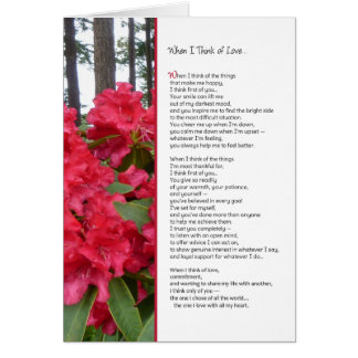 When I Think of Love...Romance Greeting Card