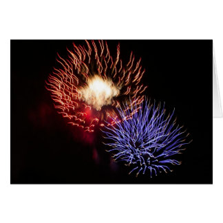 When I think of you I see fireworks Card