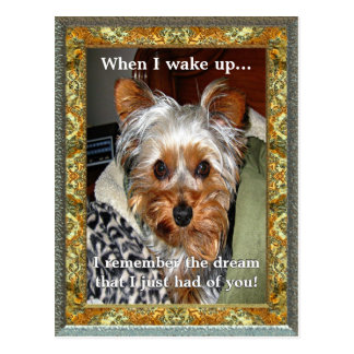 When I Wake Up Customizable Postcard