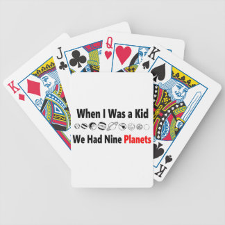 when i was kid we had nine planets bicycle playing cards