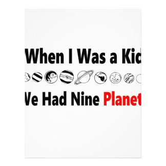 when i was kid we had nine planets letterhead
