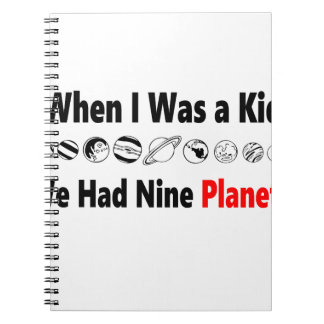 when i was kid we had nine planets notebook