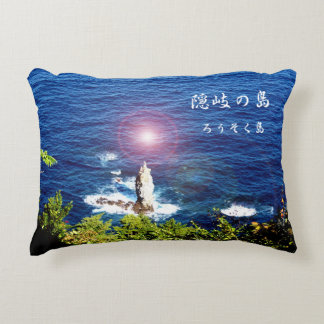 When it is the evening sun with the Oki island, Accent Pillow