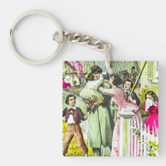 When Johnny Comes Marching Home Civil War Single-Sided Square Acrylic Keychain