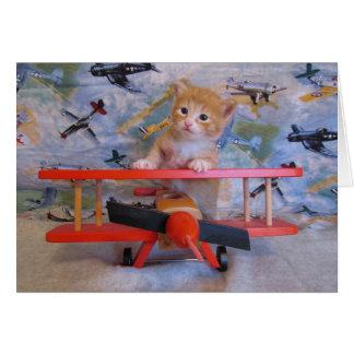 When Kitties Fly Card