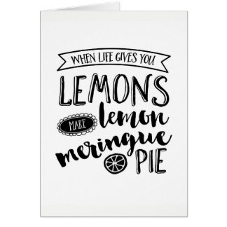 When life give you lemons inspiring greeting card